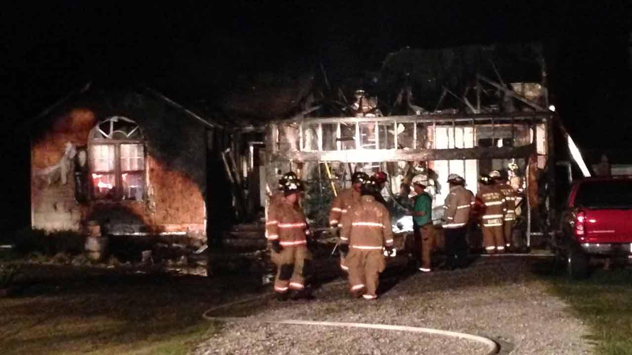Investigators are trying to determine the cause of a house fire in Clayton Monday evening.