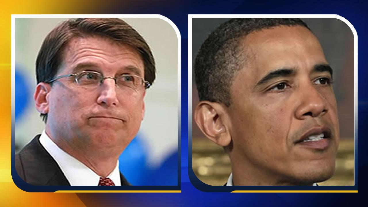Gov. Pat McCrory and President Barack Obama