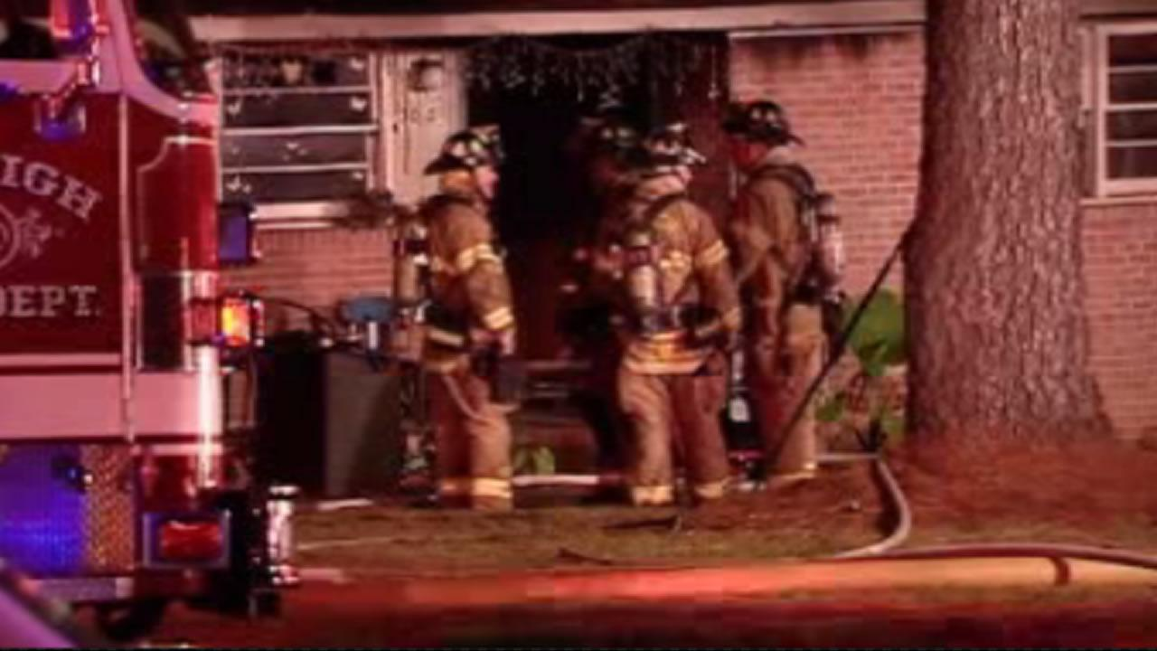 Eight people were forced from their homes early Friday by a fire at a Raleigh duplex.