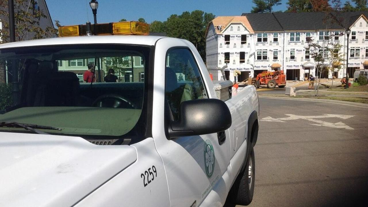 A gas leak was reported in Morrisville Wednesday.