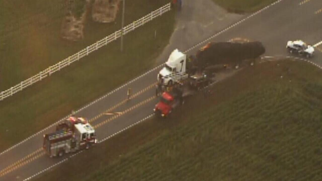 An accident along N.C. 50 in Garner blocked Benson Road at Golden Grain Road near Ten-Ten Road.