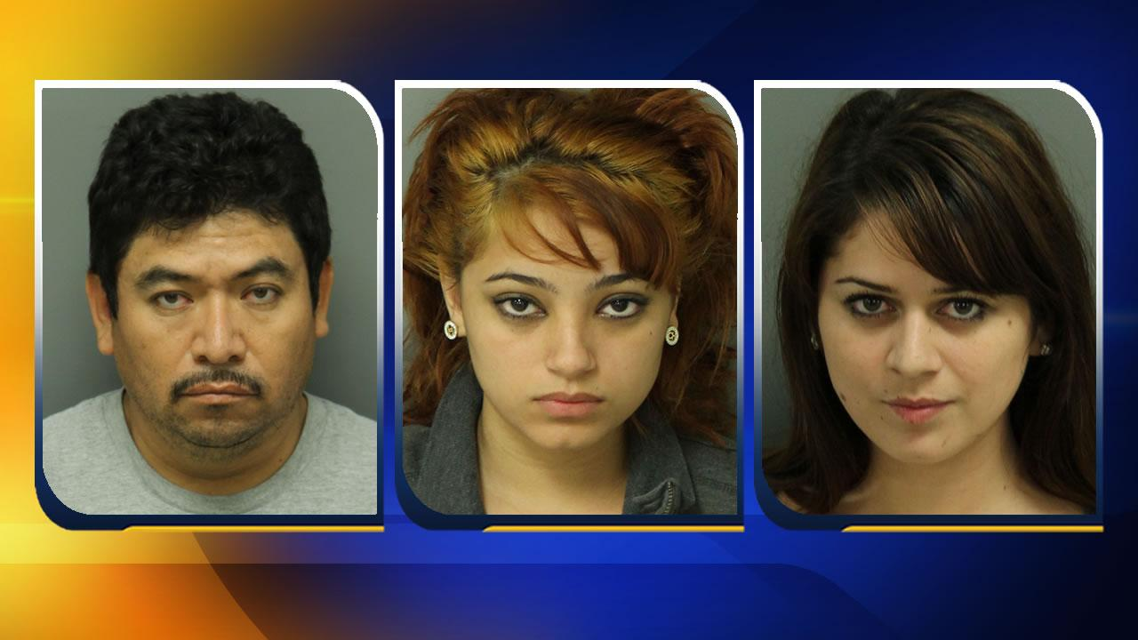 Moise Orduno,Amall Judeth Murillo, and Sandra Danissa Hernandez Crisostomo <span class=meta>(Images courtesy Wake County Sheriff&#39;s Office)</span>