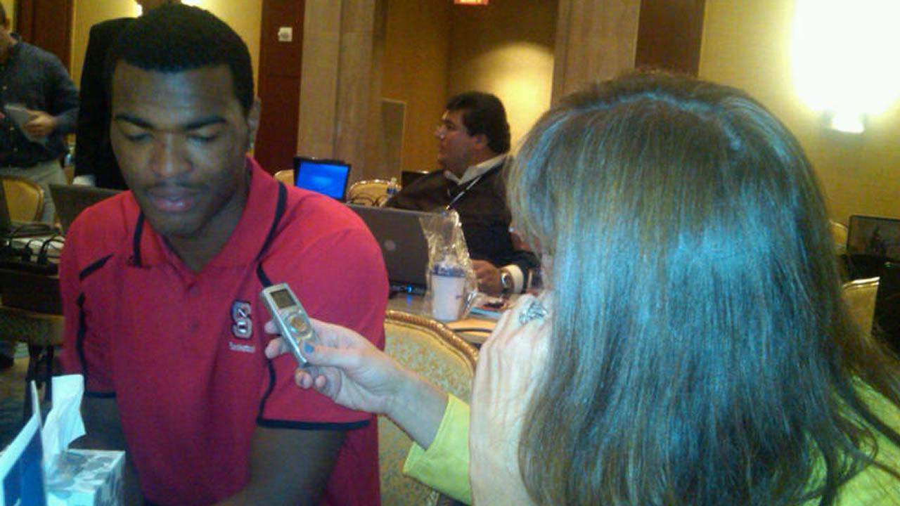 TJ Warren of NC State  (WTVD Photo/Charlie Mickens)