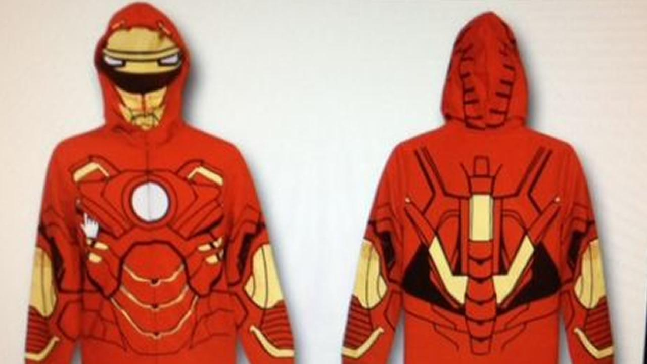 Police say one of the suspects was wearing an Iron Man hoodie like this one.