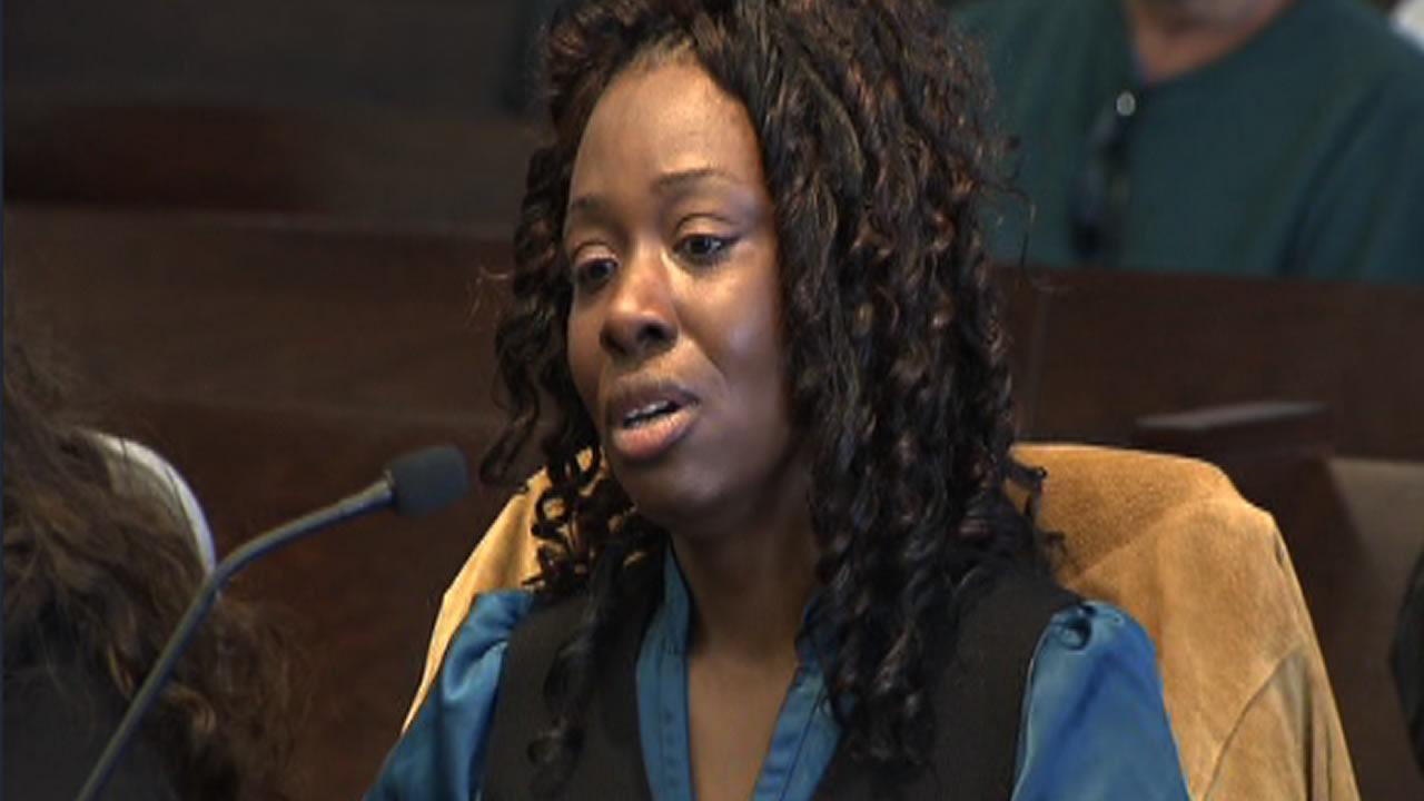 Crystal Mangum reacts to the guilty verdict
