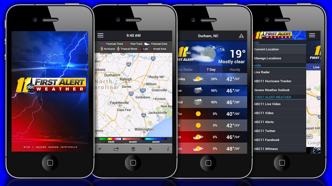 ABC11 First Alert Weather app