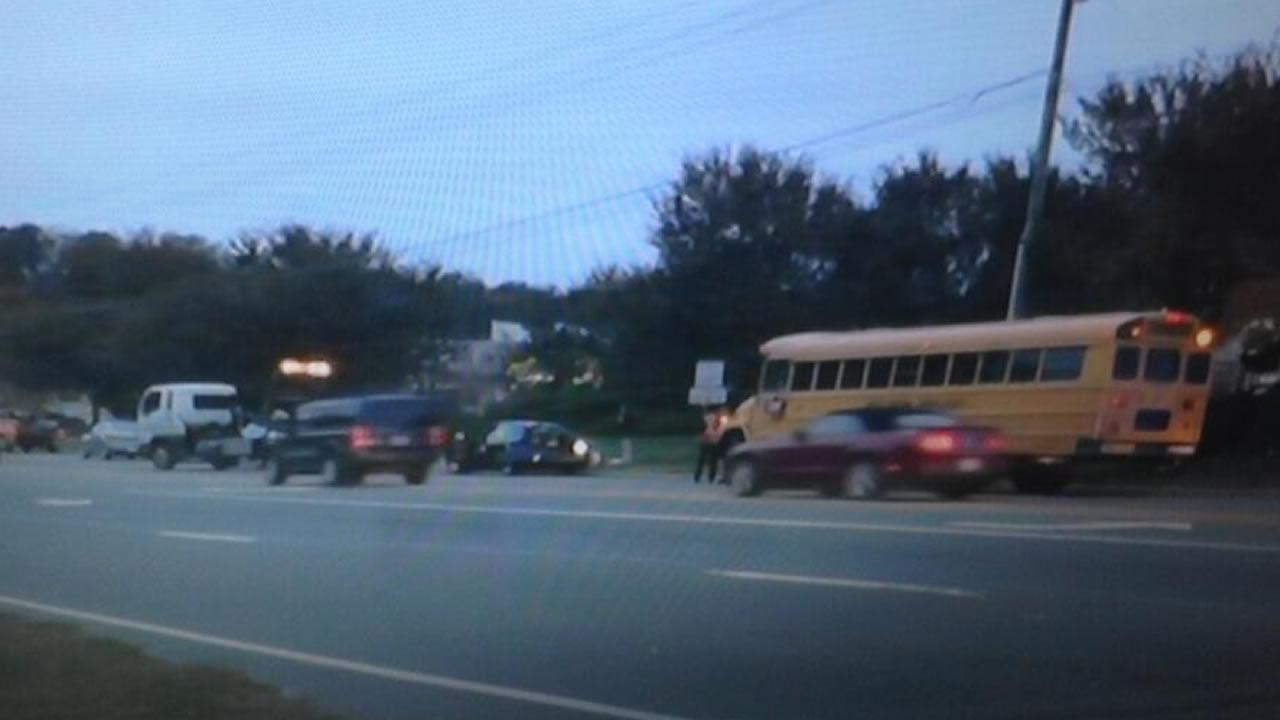 Wake school bus involved in crash