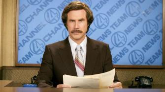 Will Ferrell as anchorman Ron Burgundy in Anchorman: The Legend of Ron Burgundy. (AP Photo/Paramount Pictures, Frank Masi)