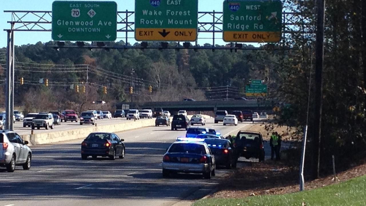 Pedestrian hit in Raleigh.