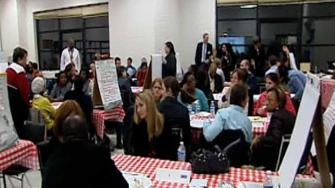Public forum on high number of suspensions in Durham Public Schools.