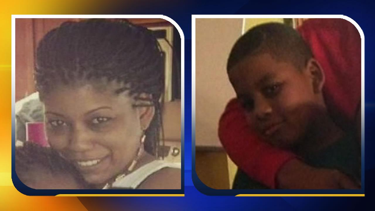 Jaeden Sharpe and his mother Lakeisha Holloway