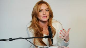 Actress Lindsay Lohan addresses reporters at a news conference at the 2014 Sundance Film Festival, Monday, Jan. 20, 2014, in Park City, Utah. (Photo by Chris Pizzello/Invision/AP)