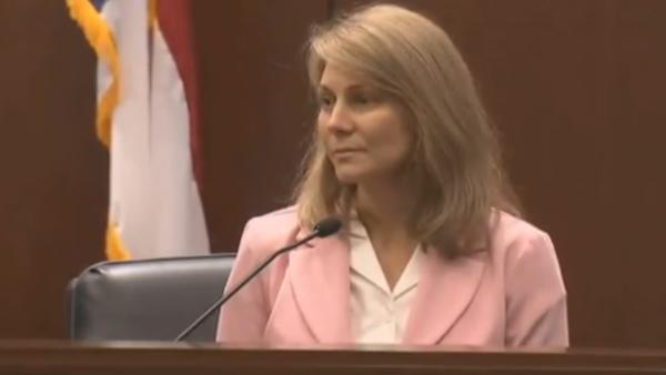 Amanda Hayes testifies in her own defense