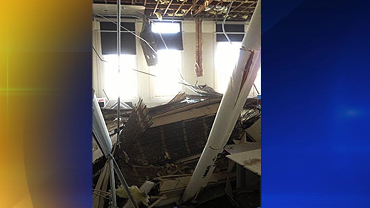 Duke classroom ceiling collapse