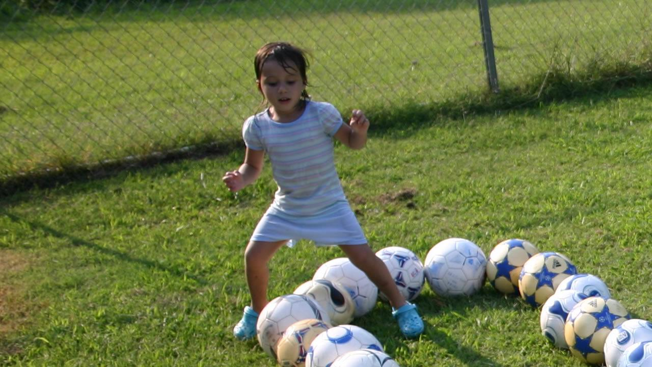 Teghan Skiba playing soccer.Image courtesy family
