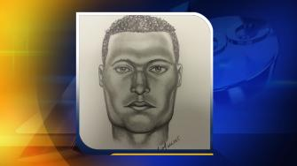 A police sketch of a Cary rape suspect