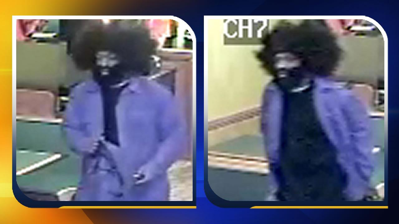 The Raleigh Police Department is looking for a robber known to wear an unusual outfit for his holdups. <span class=meta>(Image courtesy Raleigh police.)</span>