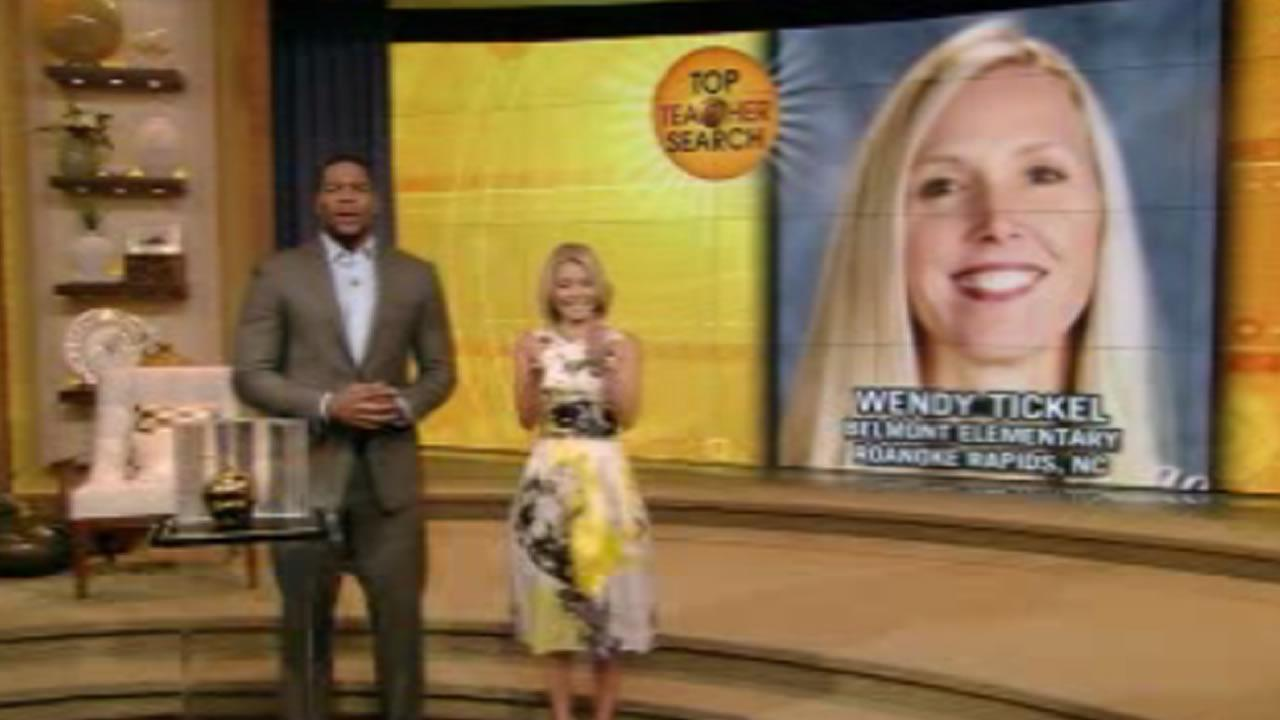 Roanoke Rapids teacher honored on 'LIVE with Kelly and Michael'