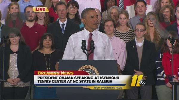 President Obama speech at NC State