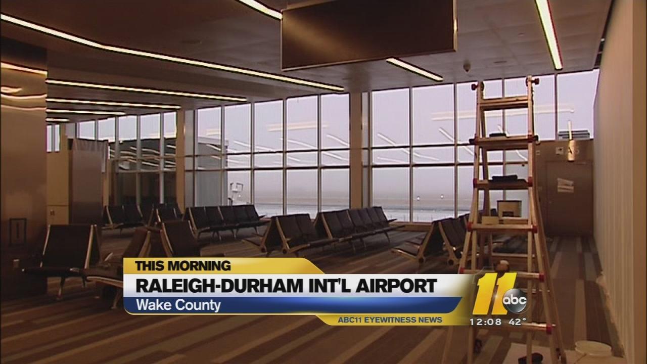 RDU Terminal 1 opening delayed