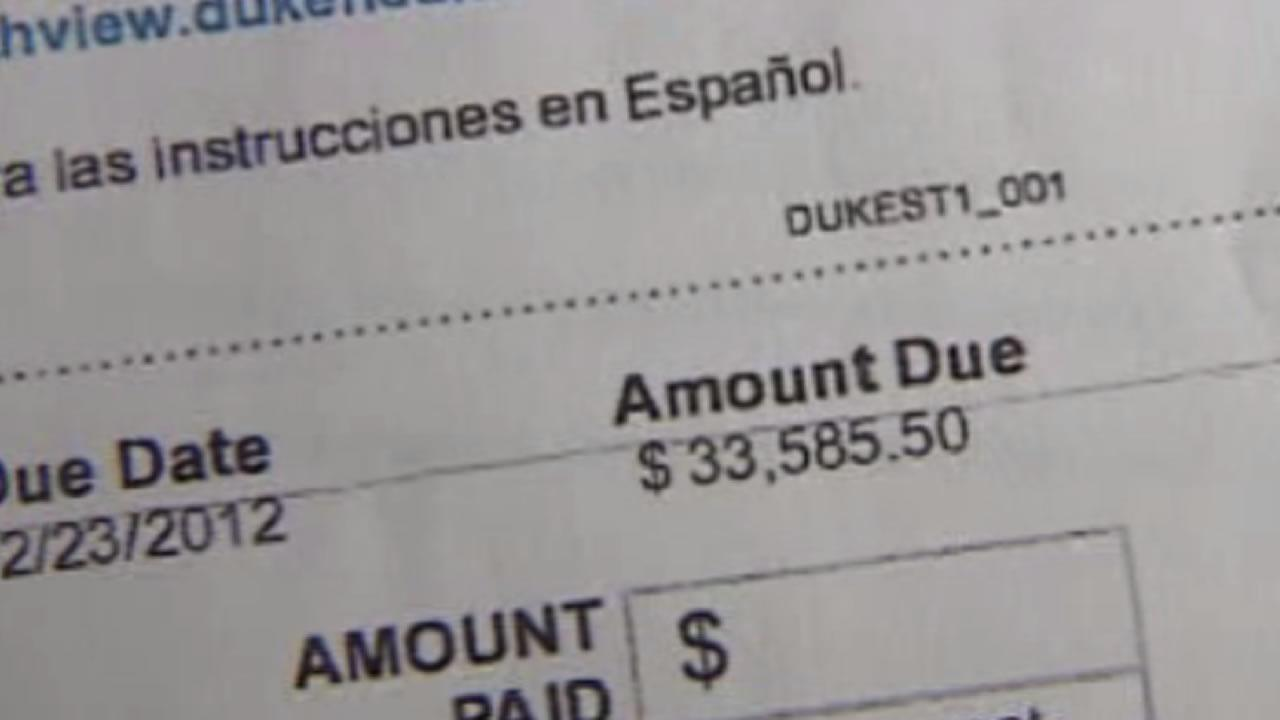 Hospital bills leave woman stressed
