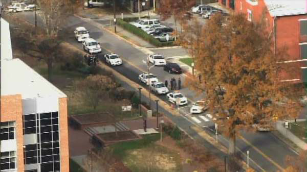 "<div class=""meta image-caption""><div class=""origin-logo origin-image ""><span></span></div><span class=""caption-text"">NC Central University Police issued an active shooter warning for campus Thursday afternoon (WTVD Photo)</span></div>"