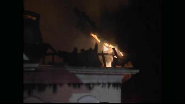 At least five fire departments were called to the scene of a huge house fire Wednesday evening on Swithland Court. <span class=meta>(WTVD Photo)</span>