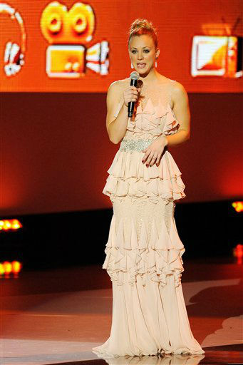Kaley Cuoco is seen onstage during the People's Choice Awards on Wednesday, Jan. 11, 2012 in Los Angeles.