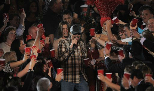 "<div class=""meta ""><span class=""caption-text "">Toby Keith performs in the audience at the 47th Annual Academy of Country Music Awards on Sunday, April 1, 2012 in Las Vegas. (AP Photo/Mark J. Terrill)</span></div>"