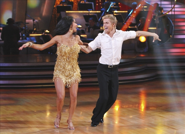 "<div class=""meta image-caption""><div class=""origin-logo origin-image ""><span></span></div><span class=""caption-text"">In this image provided by ABC Nicole Scherzinger and her partner Derek Hough perform the Argentine Tango Tuesday May 25, 2010. For the first time ever, all three couples chose the same dance, the Argentine Tango. Nicole Scherzinger and partner Derek Hough dominated throughout the 10th season of the hit ABC show and bested Olympic gold medalist Evan Lysacek to win the ""Dancing"" crown Tuesday night.  (AP/ABC/Adam Larkey)</span></div>"