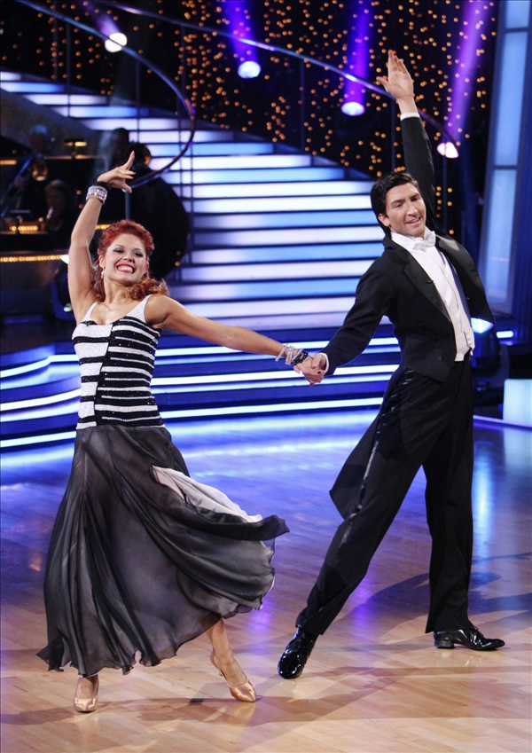In this publicity image released by ABC, Evan Lysacek, right, and his dance partner Anna Trebunskaya perform on the celebrity dance competition series &#34;Dancing With the Stars,&#34; on Monday, May 24, 2010 in Los Angeles. <span class=meta>(AP&#47;ABC&#47;Adam Larkey)</span>
