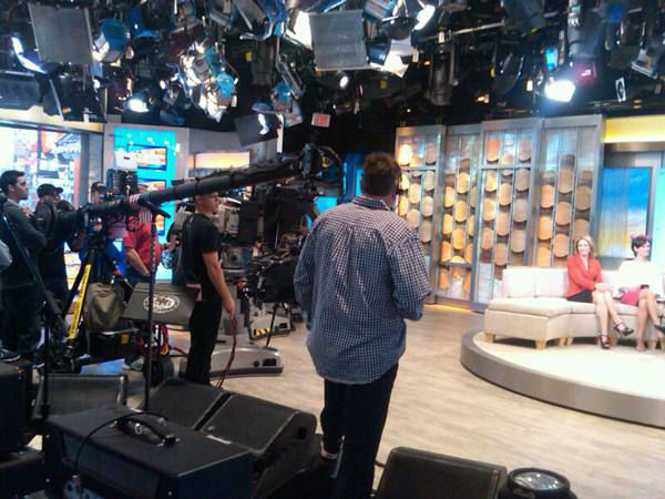 Studio cameras and the &#34;floor crew&#34;. <span class=meta>(WTVD Photo&#47; Elizabeth Plyler)</span>