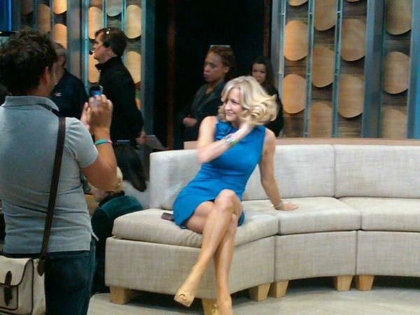 One last hair adjustment for Lara Spencer before her next segment. <span class=meta>(WTVD Photo&#47; Elizabeth Plyler)</span>