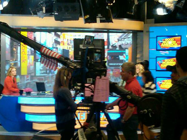 One of the camera cranes used in the studio. <span class=meta>(WTVD Photo&#47; Elizabeth Plyler)</span>
