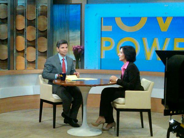 George on the interview set with guest. <span class=meta>(WTVD Photo&#47; Elizabeth Plyler)</span>