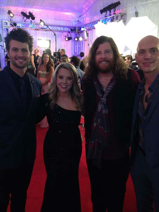 "<div class=""meta ""><span class=""caption-text "">Eli Young Band on the red carpet. (WTVD Photo)</span></div>"