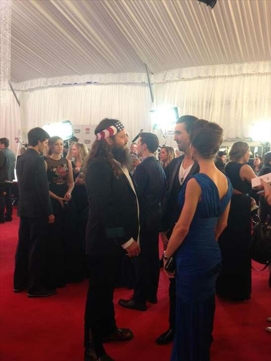 "<div class=""meta image-caption""><div class=""origin-logo origin-image ""><span></span></div><span class=""caption-text"">A member of ""Duck Dynasty"" at the CMAs. (WTVD Photo)</span></div>"
