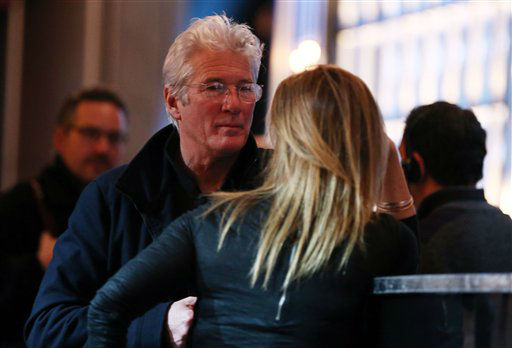 "<div class=""meta ""><span class=""caption-text "">Actor Richard Gere, left, attends rehearsals for the 85th Academy Awards in Los Angeles, Saturday, Feb. 23, 2013.  (AP Photo/Matt Sayles)</span></div>"