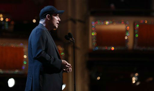 "<div class=""meta ""><span class=""caption-text "">Actor John Travolta speaks during rehearsals for the 85th Academy Awards in Los Angeles, Saturday, Feb. 23, 2013.  (AP Photo/Matt Sayles)</span></div>"