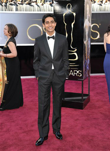 Actor Suraj Sharma arrives at the 85th Academy Awards at the Dolby Theatre on Sunday Feb. 24, 2013, in Los Angeles. (Photo by John Shearer/Invision/AP)