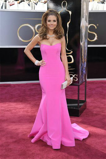 TV personality Maria Menounos arrives at the 85th Academy Awards at the Dolby Theatre on Sunday Feb. 24, 2013, in Los Angeles.  <span class=meta>(AP Photo&#47; John Shearer)</span>