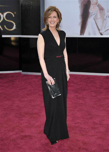 Co-Chair of Disney Media Networks and President of Disney-ABC Television Group Anne Sweeney arrives at the 85th Academy Awards at the Dolby Theatre on Sunday Feb. 24, 2013, in Los Angeles. (Photo by John Shearer/Invision/AP)