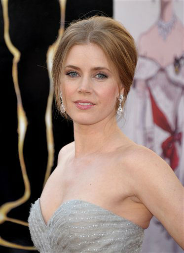 Actress Amy Adams  arrives at the 85th Academy Awards at the Dolby Theatre on Sunday Feb. 24, 2013, in Los Angeles. (Photo by John Shearer/Invision/AP)