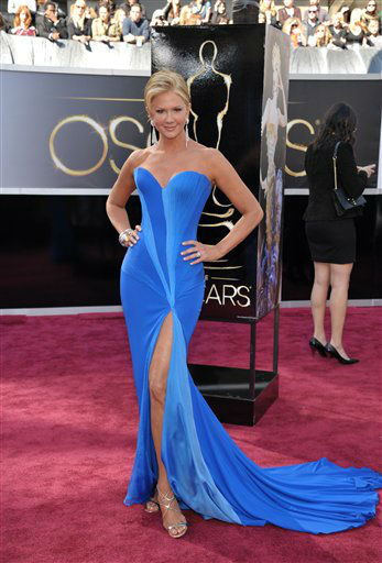 "<div class=""meta image-caption""><div class=""origin-logo origin-image ""><span></span></div><span class=""caption-text"">TV personality Nancy O'Dell arrives at the 85th Academy Awards at the Dolby Theatre on Sunday Feb. 24, 2013, in Los Angeles. (AP Photo/ John Shearer)</span></div>"