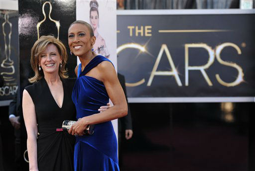 "<div class=""meta image-caption""><div class=""origin-logo origin-image ""><span></span></div><span class=""caption-text"">Co-Chair of Disney Media Networks and President of Disney-ABC Television Group Anne Sweeney and Tv personality Robin Roberts arrives at the 85th Academy Awards at the Dolby Theatre on Sunday Feb. 24, 2013, in Los Angeles. (Photo by John Shearer/Invision/AP)</span></div>"
