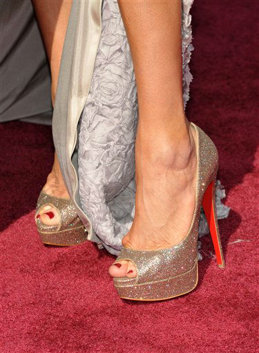 TV personality Brandi Glanville &#40;shoe detail&#41; arrives at the 85th Academy Awards at the Dolby Theatre on Sunday Feb. 24, 2013, in Los Angeles.  <span class=meta>(AP Photo&#47; John Shearer)</span>