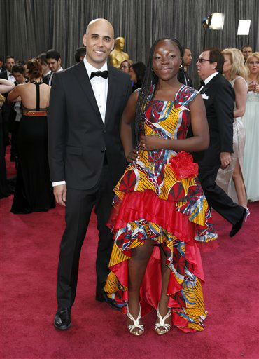 "<div class=""meta ""><span class=""caption-text "">Director Kim Nguyen, left, and actress Rachel Mwanza arrive at the 85th Academy Awards at the Dolby Theatre on Sunday Feb. 24, 2013, in Los Angeles. (Photo by Todd Williamson/Invision/AP)</span></div>"