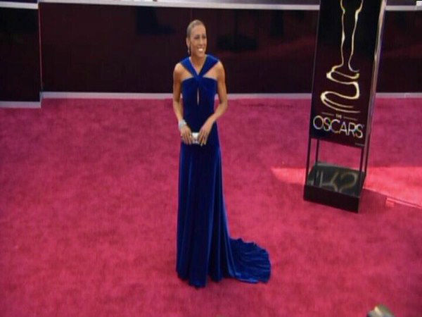 Robin Roberts arrives at the Academy Awards. <span class=meta>(ABCNews Photo)</span>