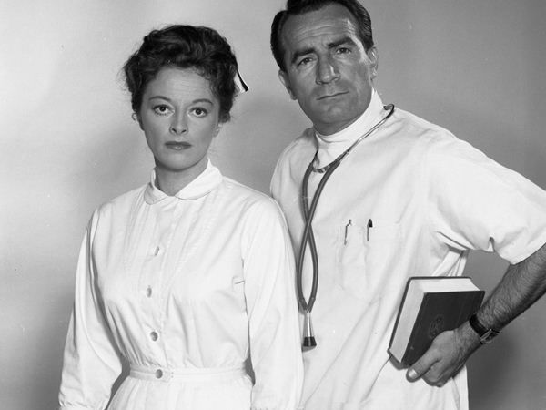 The first episode ever aired on April 1, 1963. It revolved around Nurse Jessie Brewer, Dr. Steve Hardy and his patient, Angie Costello. Angie was in a severe car accident that left her requiring hours of surgery to correct her face. Feeling insecure about her looks, Angie contemplated suicide, but Dr. Steve and Nurse Jessie managed to talk her out of it.   <span class=meta>(ABC Photo)</span>