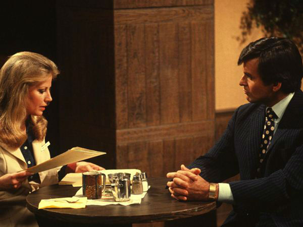 1970s: Alan Quartermaine comes to Port Charles - The first of his wealthy family to arrive in town, Alan promptly clashes with Monica Webber at work. But soon their relationship turns into romance.   <span class=meta>(ABC Photo)</span>